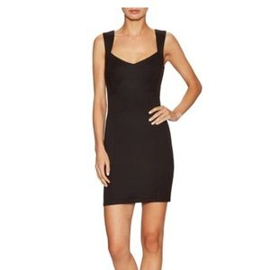French Connection black stretch Lula dress